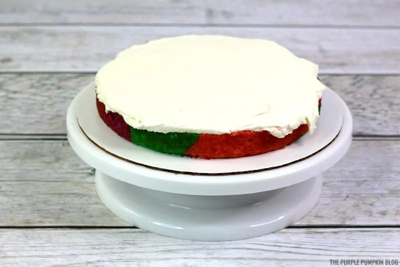 frosted cake layer