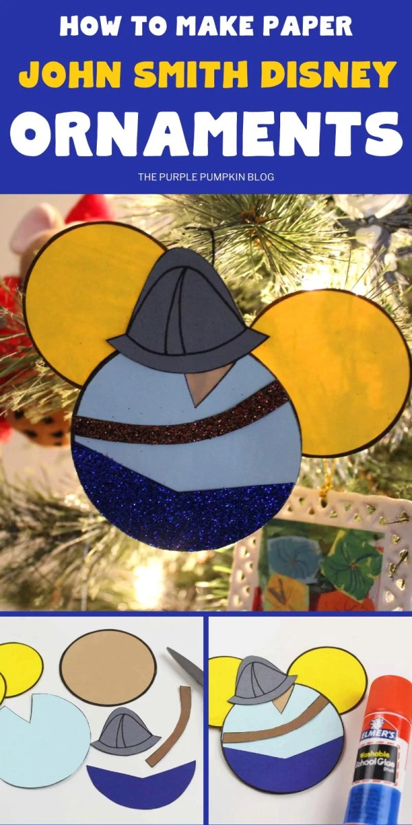John Smith Paper Disney Ornaments