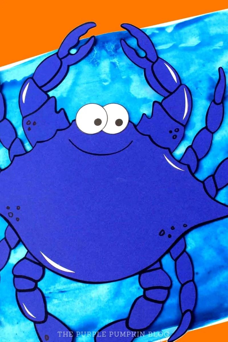 Paper Blue Crab Craft
