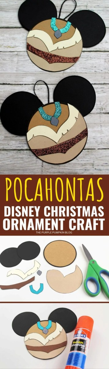 Pocahontas Disney Christmas Ornament Craft