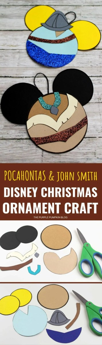 Pocahontas & John Smith Disney Christmas Ornaments Craft