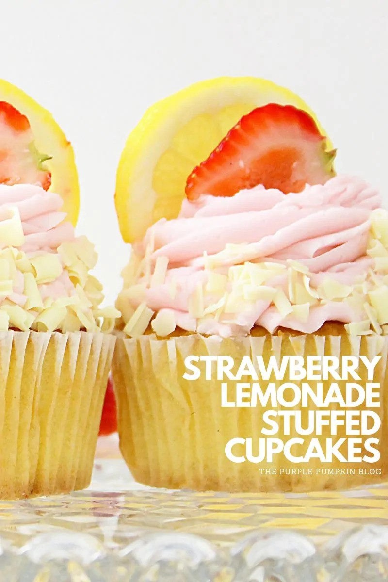 Strawberry Lemonade Stuffed Cupcakes