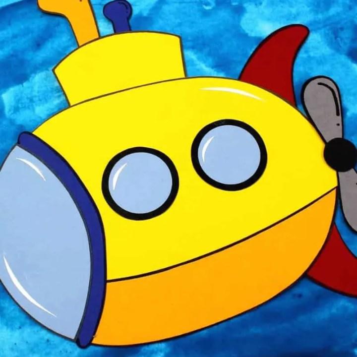 Yellow Submarine Paper Craft
