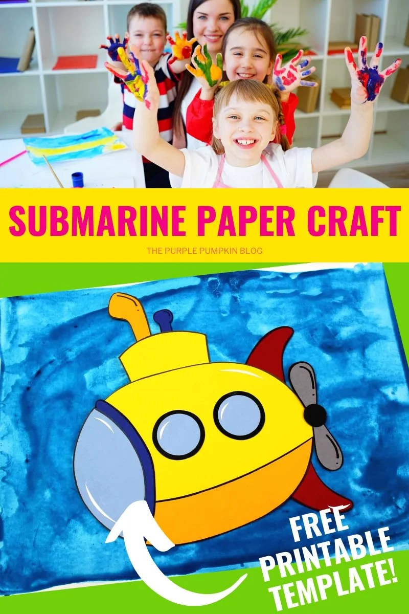 Submarine Paper and Free Printable Template