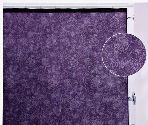 botanica purple shower curtain