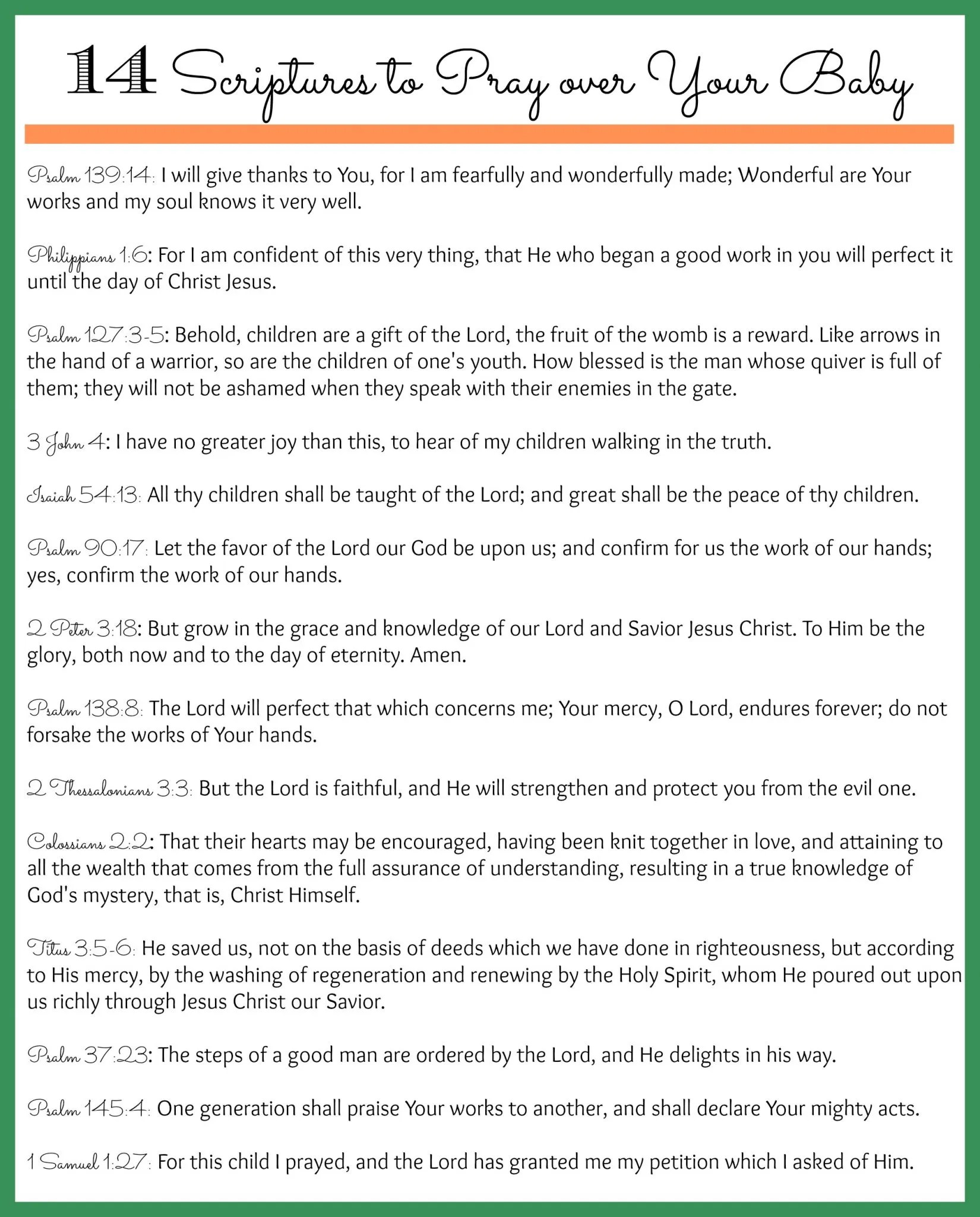 14 Scriptures To Pray Over Your Unborn Baby And Other