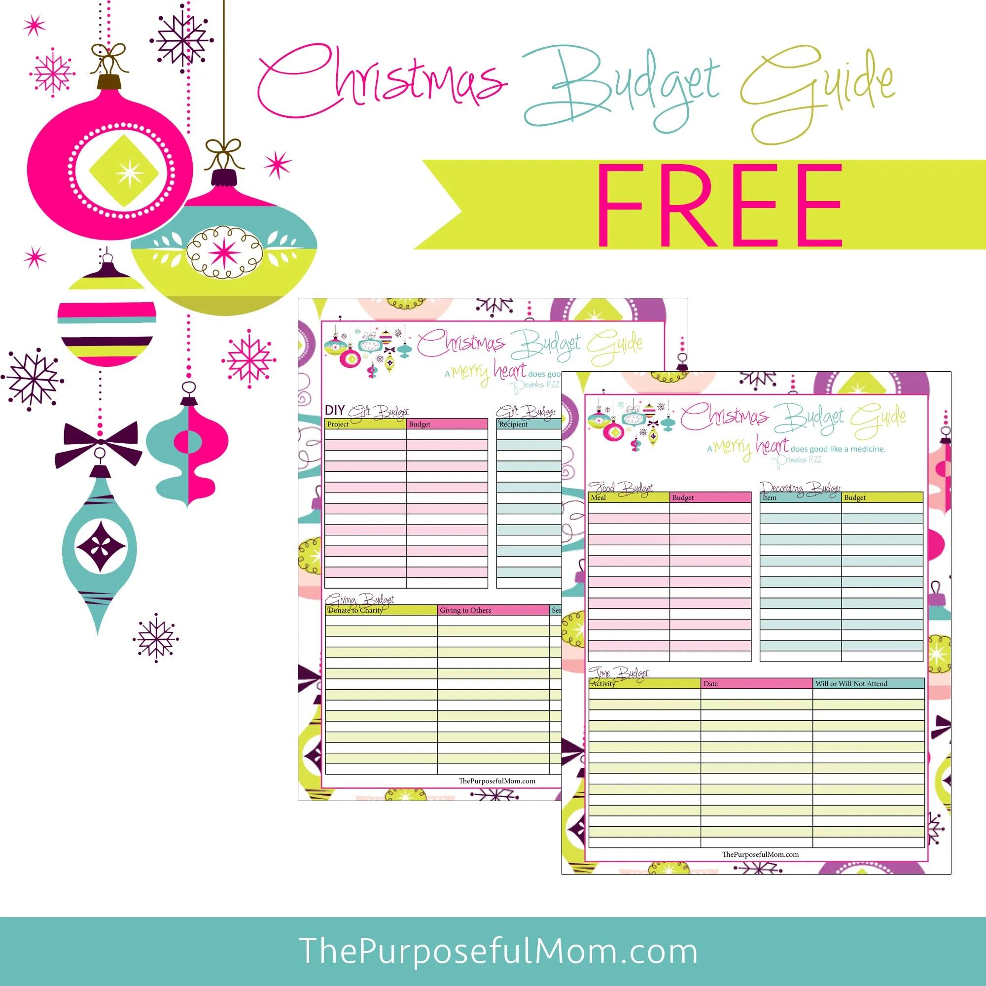Free Printable Christmas Budget Planner