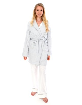 Alex Chambray Stripe Robe