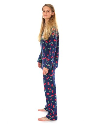 Navy Cherry PJs