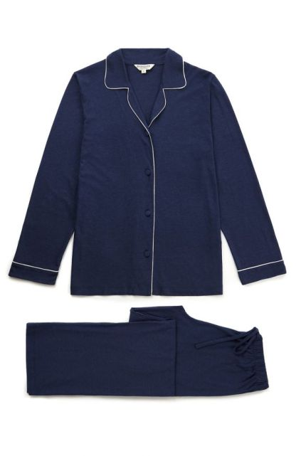 Midnight Navy Blue Jersey Pyjamas