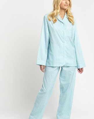 Navy Blue Herringbone PJs
