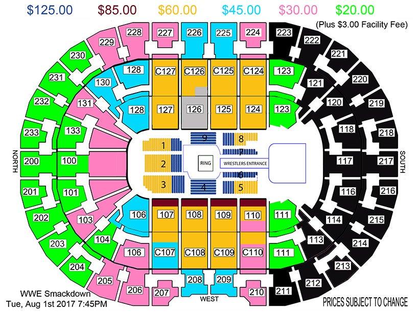 Quicken Loans Arena Wwe Seating Chart Wallseatco
