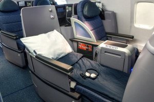 United's BusinessFirst seat on the 787-9. Photo: United