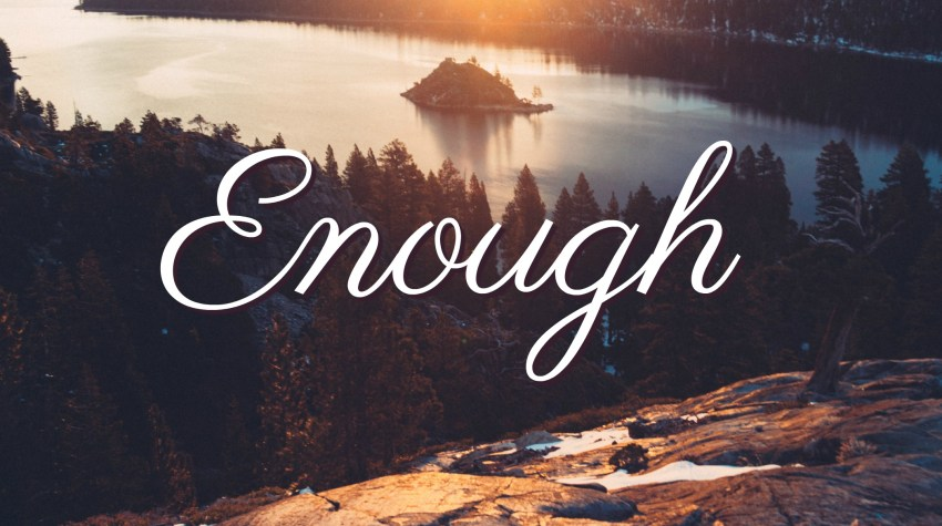 It's All Enough – Word of the Year