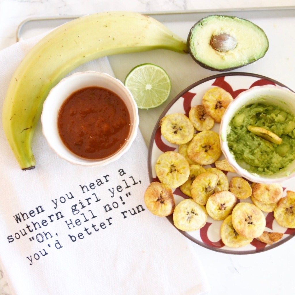 Favorite Snack - Plantains and Guacamole