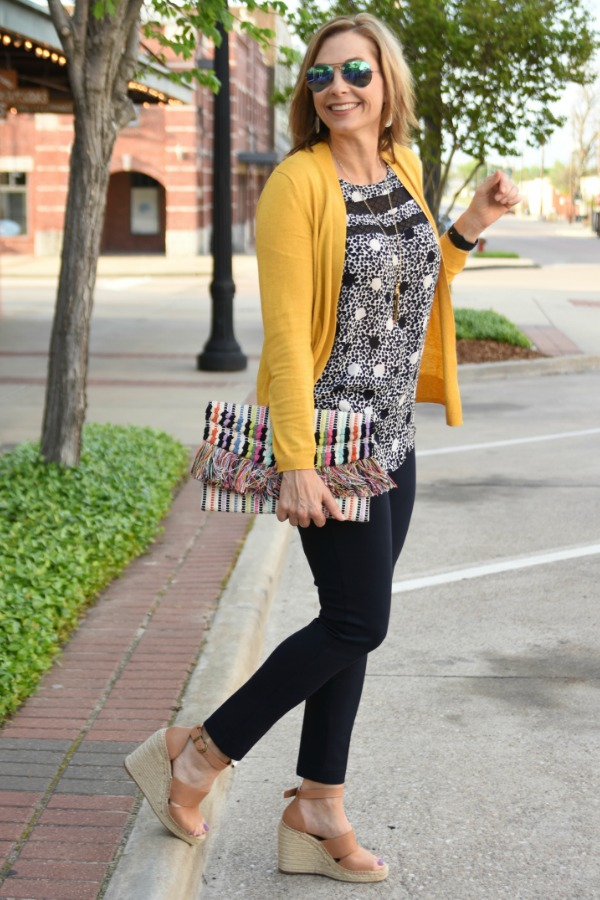 431849fdcb8 Welcome to the April Ageless Style Linkup! Jennie from A Pocketful of Polka  Dots has chosen our theme this month to be yellow. She noted so many women  shy ...
