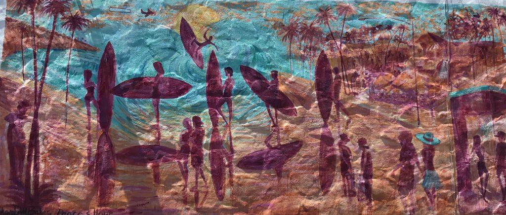 Carlsbad Mural of surfers