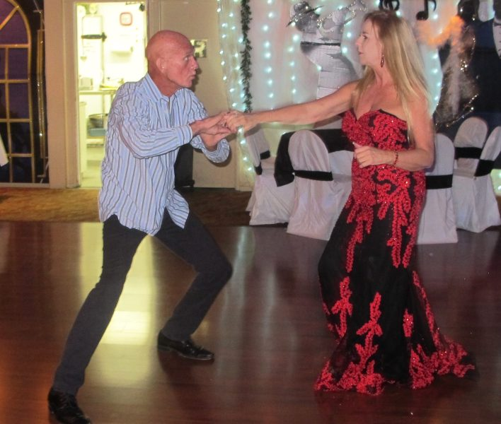 My friend Richard & me dancing at my 60th birthday party last November