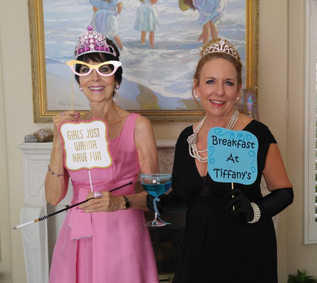 Stella & Patti hamming it up with props!