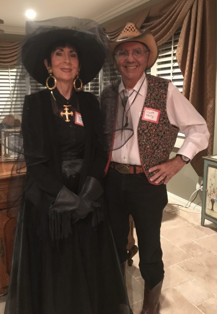 Stella played the part of Dee Adela Muerte, the thrice-widowed Mexican beauty..... And Al was Wyatt Hertz, the most famous lawman in the west!