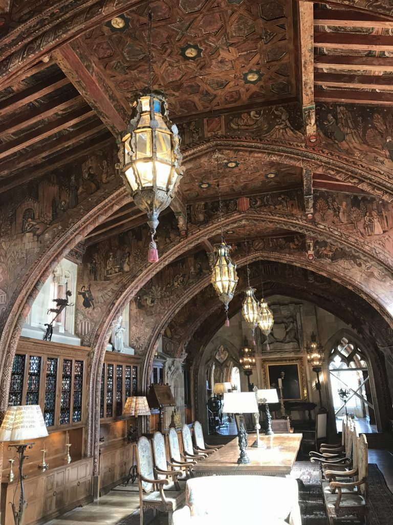 Look at the detail in this room and in the ceiling! It is just amazing what was put into this castle!