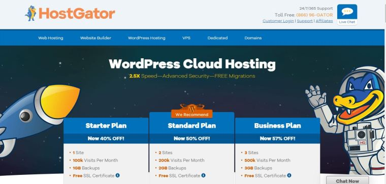 Hostgator - Best WooCommerce Hosting