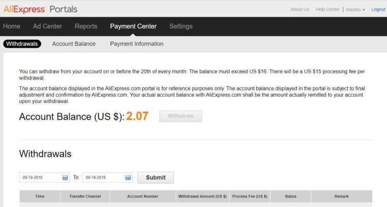 Aliexpress Affiliate Program Payment Method