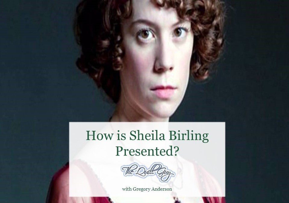 How is Sheila Birling presented?