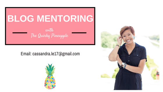 blog mentoring -- the quirky pineapple