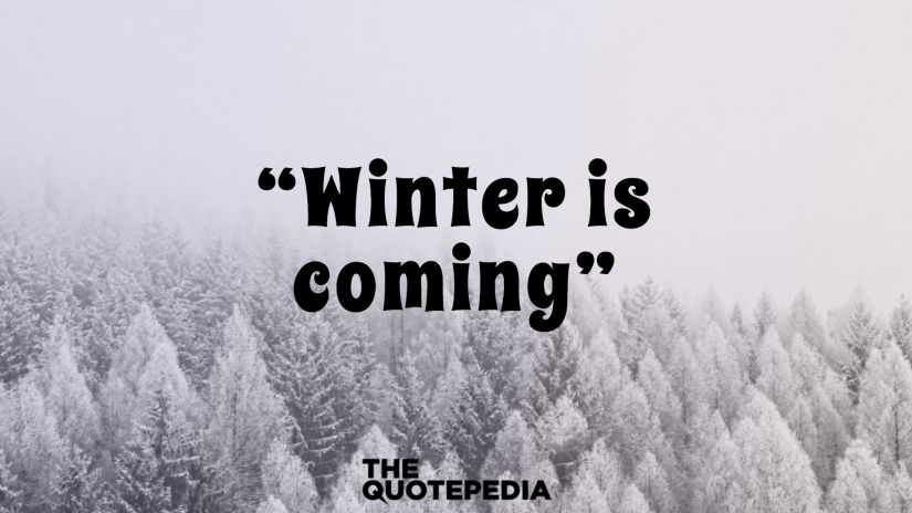 """Winter is coming."""