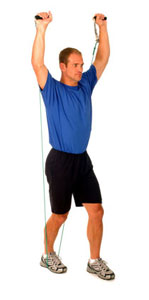 Thera-Band Shoulder Overhead Press (standing)