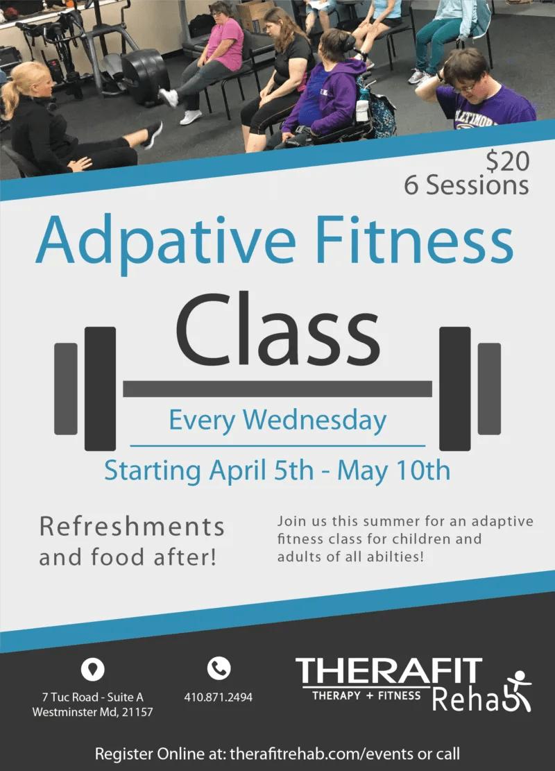Adaptive Fitness Class Flyer