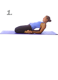 Yoga: Reclining hero pose 1