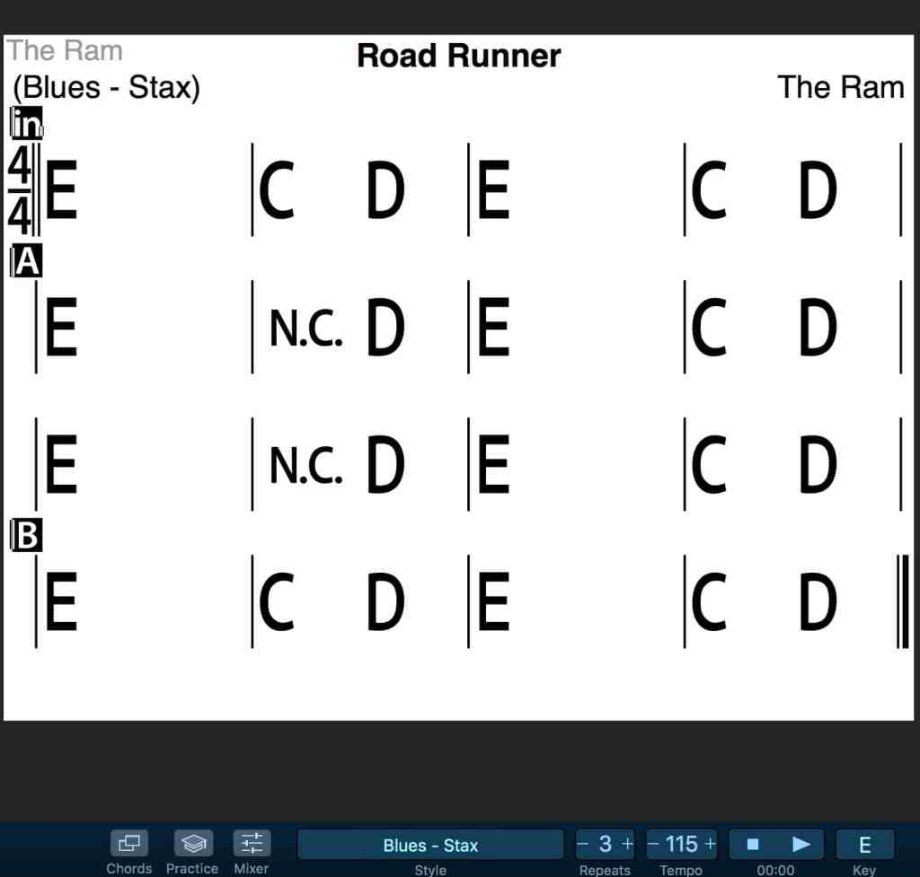 Road Runner by the Ram registered with ASCAP IPI #375351061