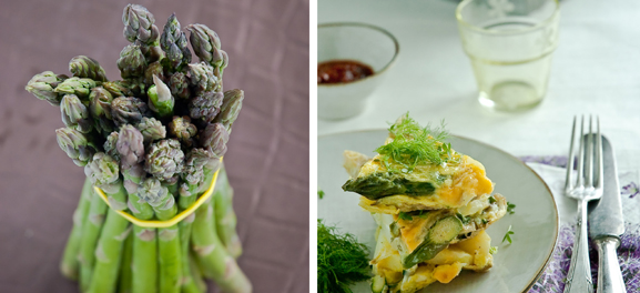 Asparagus and Asparagus Sandwich, Food Art, Meeta Khurana Wolff, The Rambling Epicure