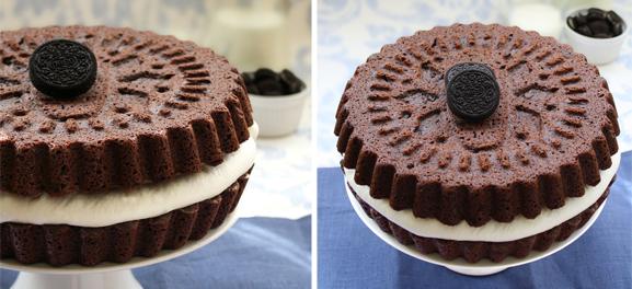 Homemade Oreo Cookie Cake