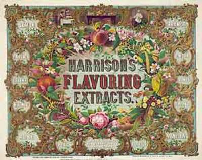 Harrison Flavoring Extracts, photo by //www.loc.gov/rr/scitech/SciRefGuides/taste.html