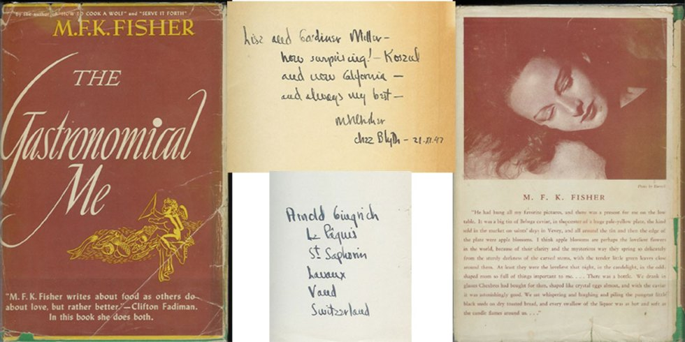 The Gastronomical Me. by MFK Fisher, photo courtesy of http://www.chanticleerbooks.com/shop/chanticleer/20267.html