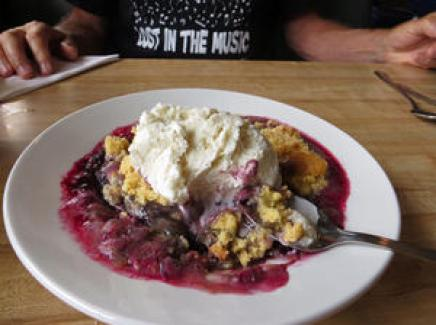 Blackberry cobbler in Trinidad