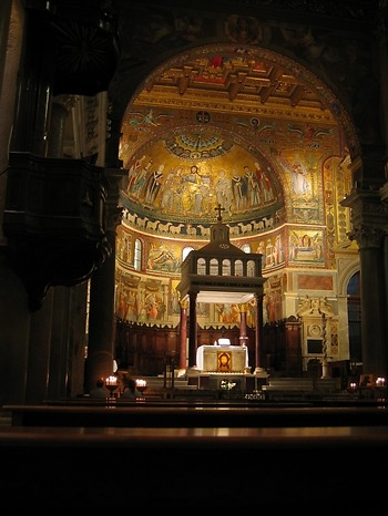 12th-century gold mosaics in Santa Maria in Trastevere, http://www.aztec-history.com/traditional-mexican-food.html