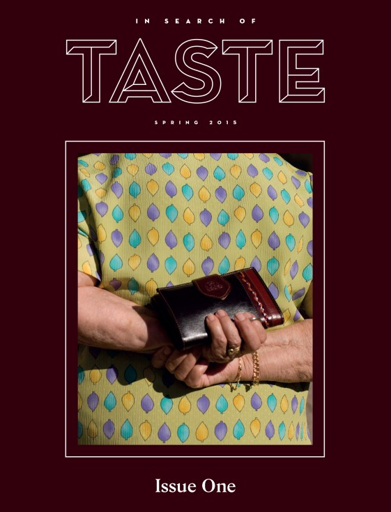 In Search of Taste food magazine, front cover Issue No. 1