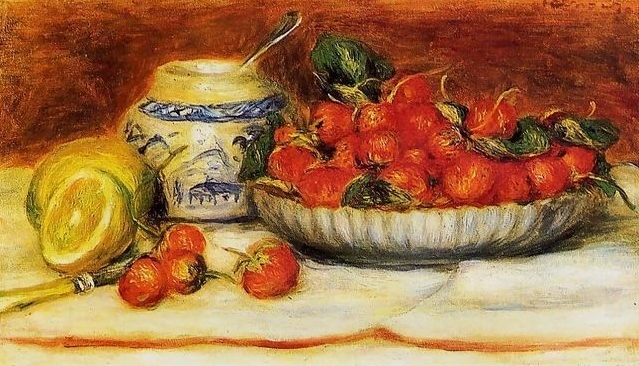 Still Life with Flowers and Fruits, by Pierre-Auguste Renoir