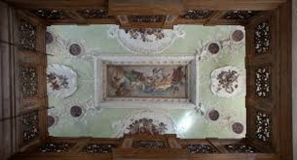 Palezzetto Bru Zane, French Romantic Music, ceiling, Venice, italy