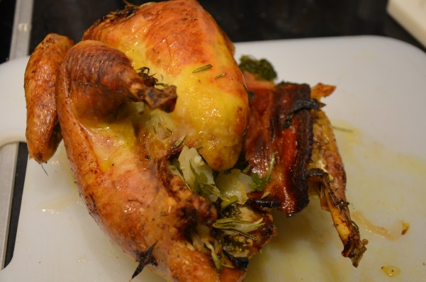 Stuffed guinea fowl, Thanksgiving in Venice