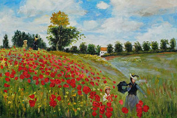 Poppy Field_in Argenteuil by Claude Monet