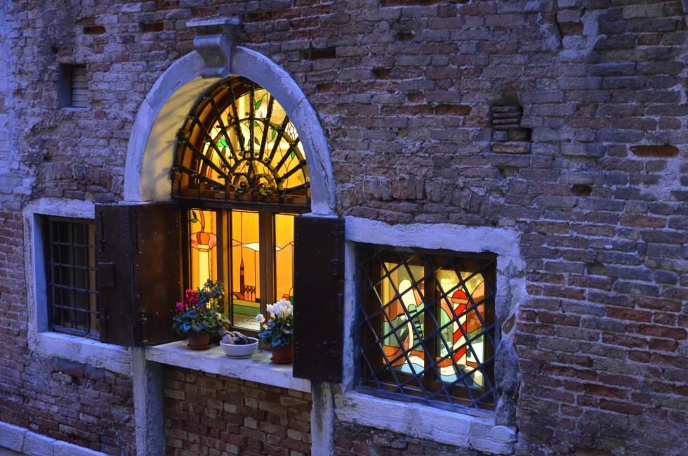 Stained glass Bistrot de Venise Venice