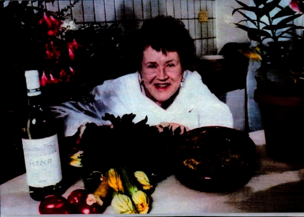 Leo Racicot Julia Child in her Kitchen