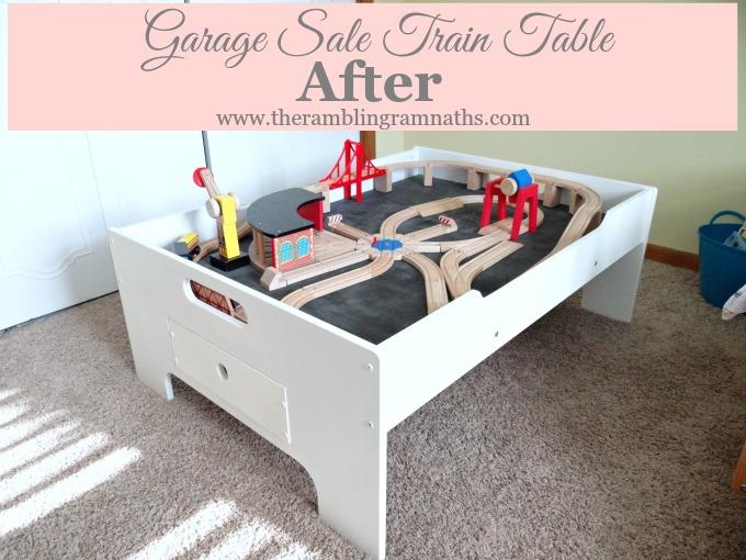 Garage Sale Train Table