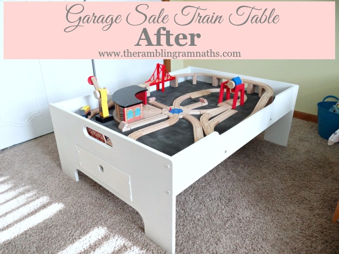 Garage Sale Train Table