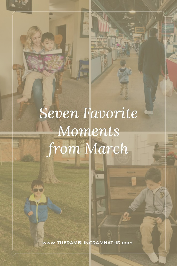 These are seven of my favorite moments that my family and I had during the month of March.